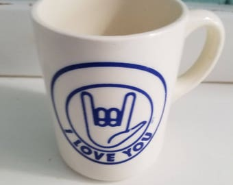 Sign Language Mug, I love you in sign language - Made in the USA