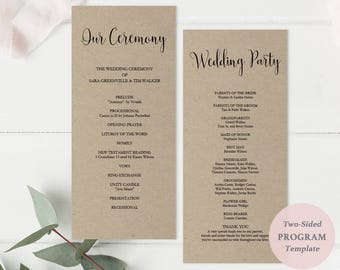 printable navy wedding program wedding ceremony program etsy