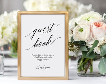 Printable Guest Book Sign - Photo Guestbook sign - Instant Download - Wedding Guest Book - PDF - DIY Wedding Sign - Editable PDF - #GD0526