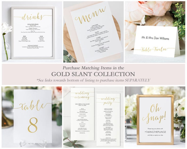 Gold Seating Chart Kit 4x6 inches Tables 1-30 Printable Instant Download Editable PDF Gold Faux foil table cards 4 x 6- #GD0816