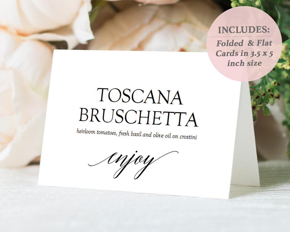 Food Signs Buffet Signs Printables buffet tent cards