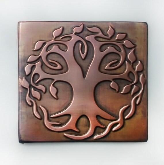 Celtic Tree of life tree of happiness metal wall art   Etsy