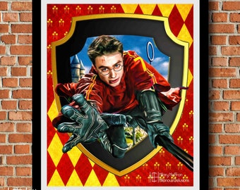 "Harry Potter ""Seeker"" Digital Painting Print"