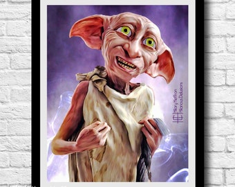 """Harry Potter """"Dobby is a Free Elf"""" Digital Painting Print"""