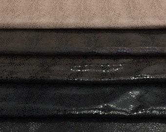 Lambskin leather hide skin Antiqued Stone Washed Vintage Matte Steel Blue  1.5oz