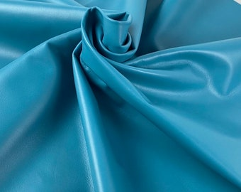 8 X 10  Smooth Pale Sky Blue Leather-hide Genuine Leather