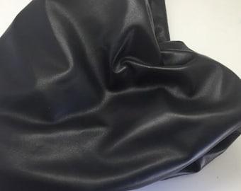 Italian Genuine Lambskin Leather Hide Fine 1.5 Oz Napa Skin 4 Garment Black 231