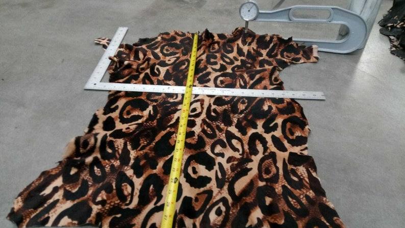 Hair on hide calf hair-on leather hide leopard cheetah animal print #ay0830-3