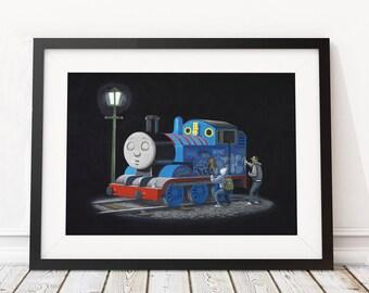 Thomas by Banksy Art Print