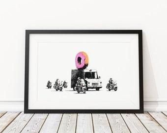 Donut by Banksy Art Print
