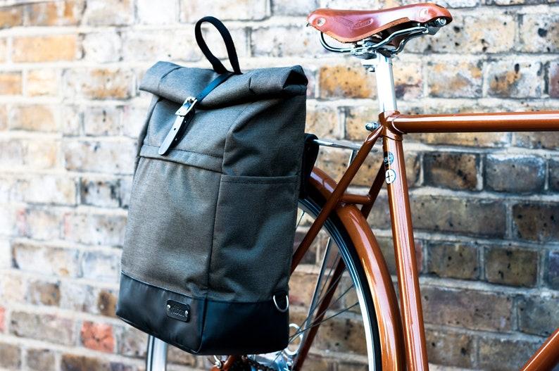 Roll Top Pannier Backpack  Backpack Pannier Bag  Cycle Bag  Pannier Backpack  Bicycle Bag  Pannier  Convertible Backpack Pannier