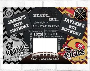 Raiders Invitations Etsy