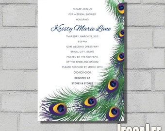 peacock shower invite printable peacock invitation peacock feather birthday party peacock baby shower invite wedding peacock bridal shower