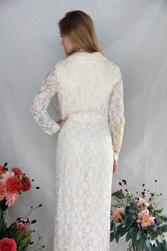 1900 Vintage Edwardian Victorian Lace Dress, Hand… - image 4