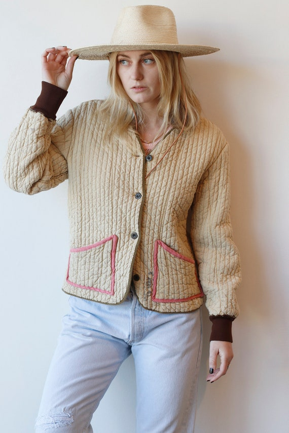 Vintage Czech Quilted Liner Jacket, Military liner