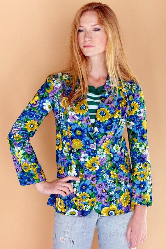 Dead Stock Vintage 70's JC Penney Floral Jacket  /