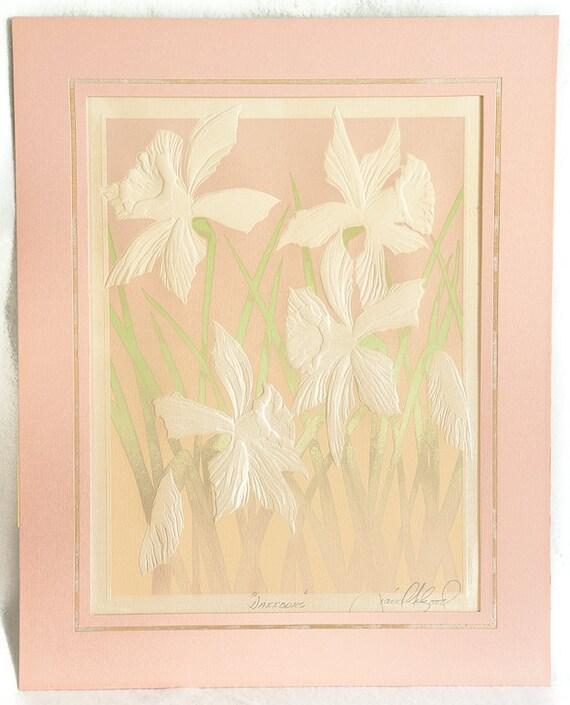 Prints Wall Art Silk Screen Serigraph Flower Art Tulip
