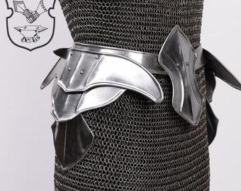 """Larp armor Female Armor ,Fantasy  Costume  """"Warrior Princess"""" steel  armor for women: skirt"""