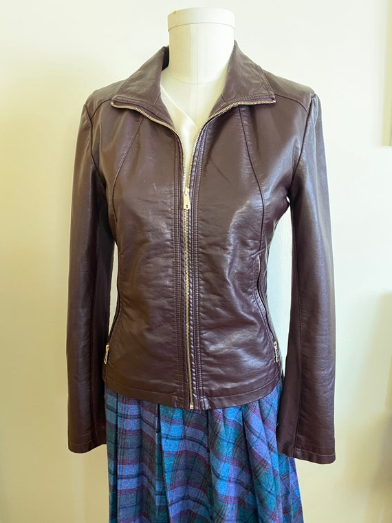 1990s faux leather jacket