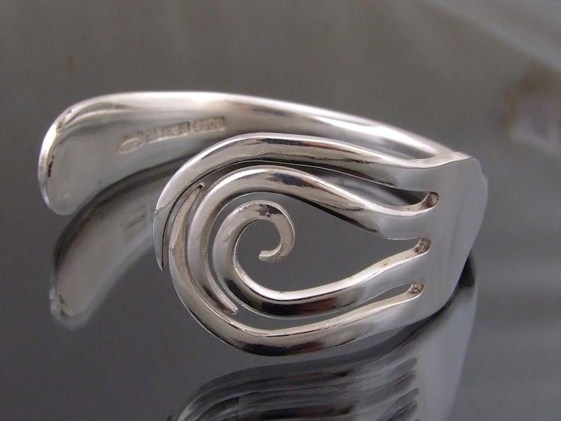 Vintage Silver Plated Fork  Bracelet Bangle Handmade Jewellery image 0