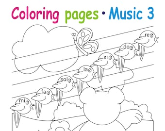 Coloring Page 6 Children S Coloring Book Child Learn Etsy