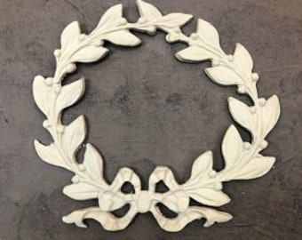 Architectural carved large wreath roses furniture appliques wood