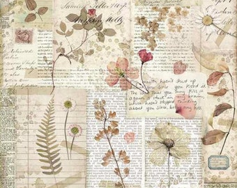 Rice Paper for Decoupage Scrapbook Craft Sheet Floral Corset Style
