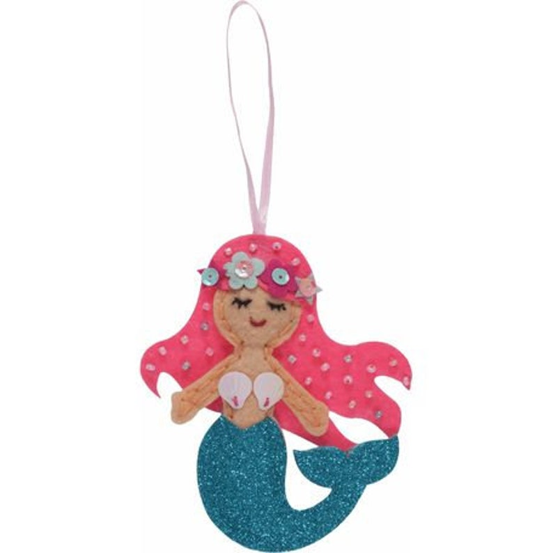 Make your own felt Mermaid Craft Kit perfect for children and adults