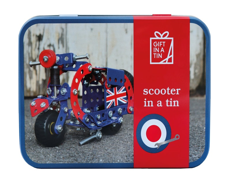 Kids craft kit, make your own scooter, kid's craft, children's craft gift,  build your own, mechanic