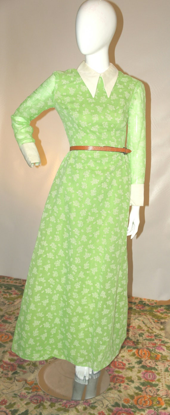 Vintage Cotton Voile French Girl Maxi Dress