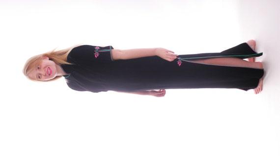 Luxurious Velvet Couture Mandarin Collar Maxi Dres