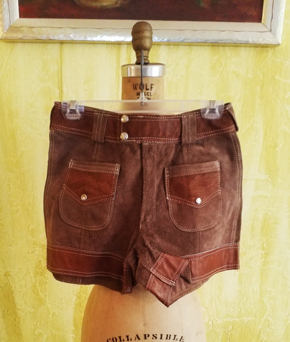 Retro Leather Shorts