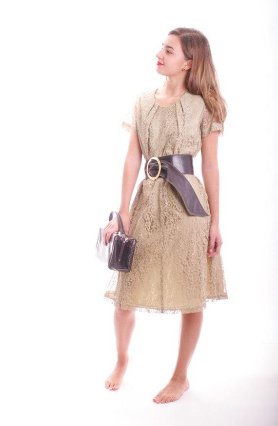 Vintage Lace Day Dress