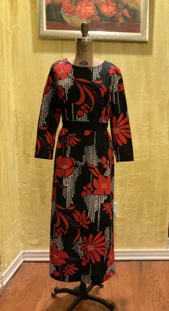 Vintage MOD Floral Maxi Dress