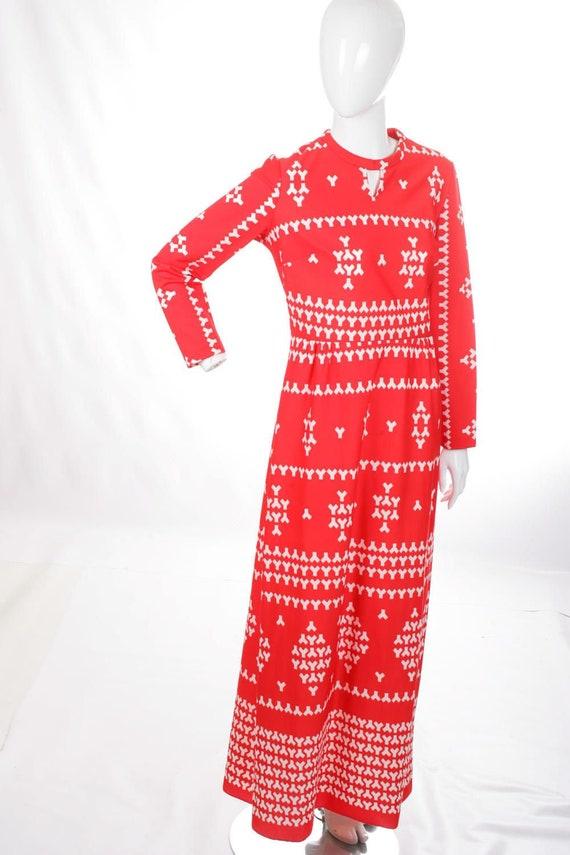Pop Art Red MOD Vintage Maxi Dress
