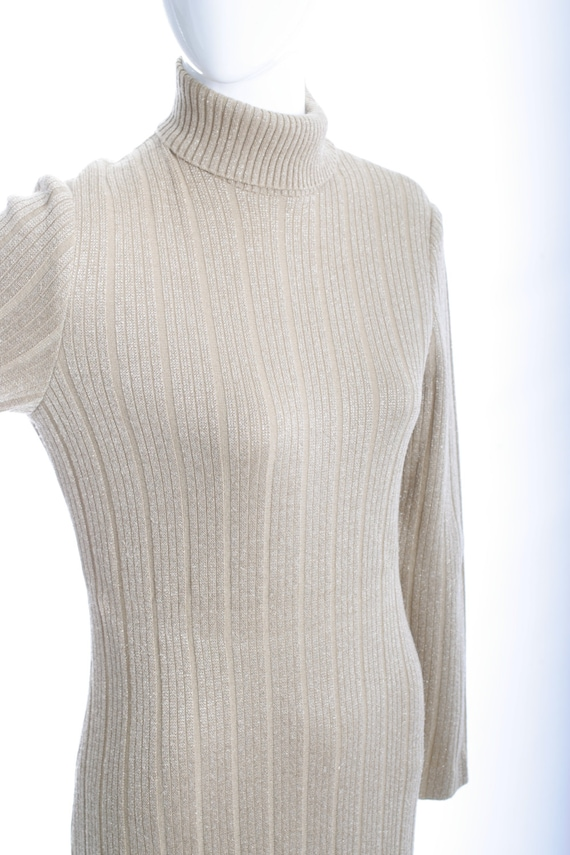 Clearance Sale Italian Vintage Knit Ribbed Maxi D… - image 3