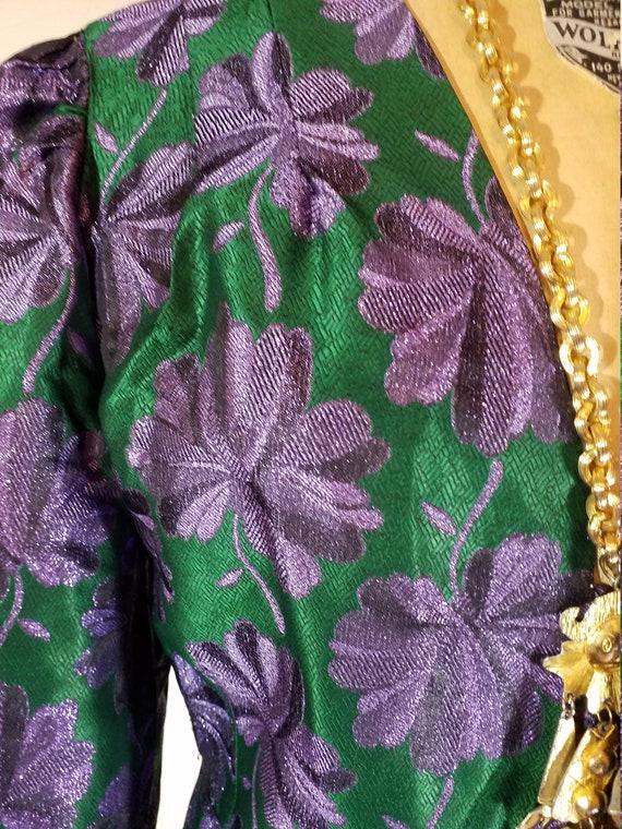 Vintage Floral Brocade Jacket