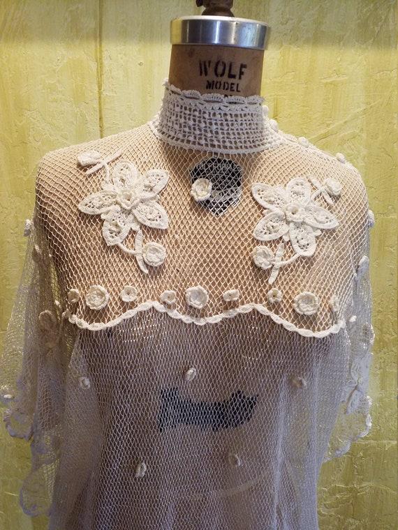 The Pretentious Snob white Crochet Blouse - image 1