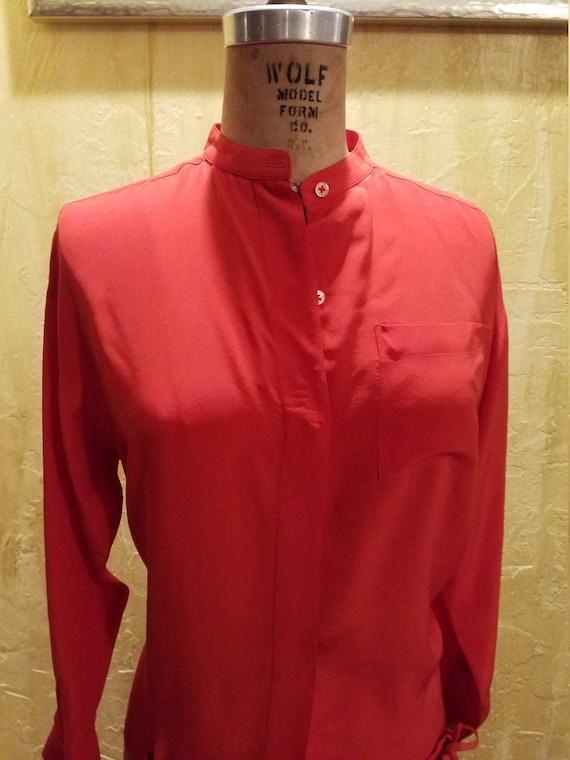 Vintage 80s Silk Shorts Set