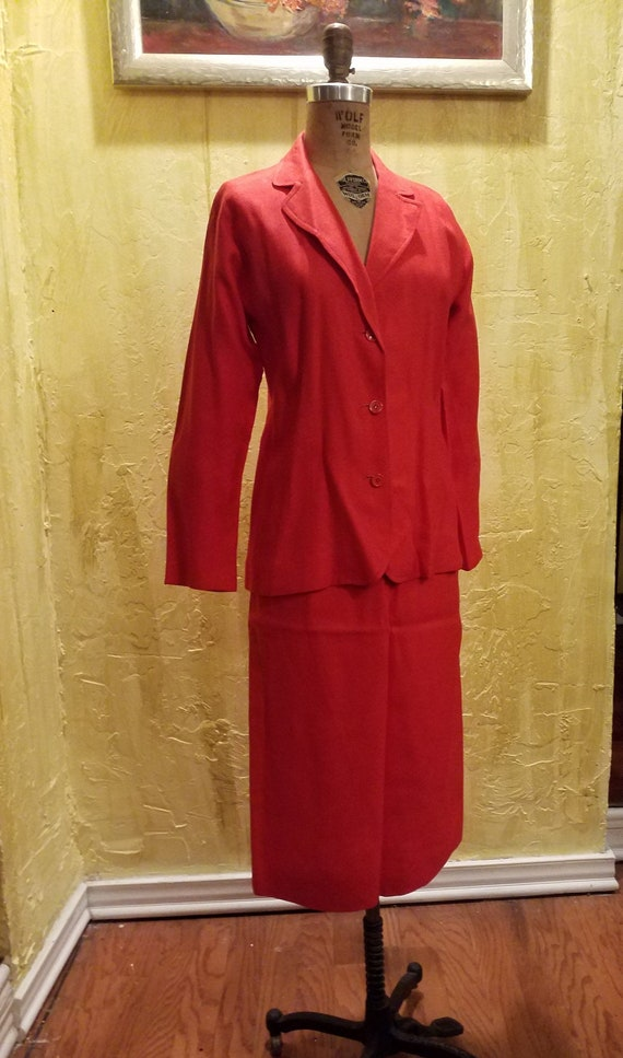 Vintage Cotton Halston Suit