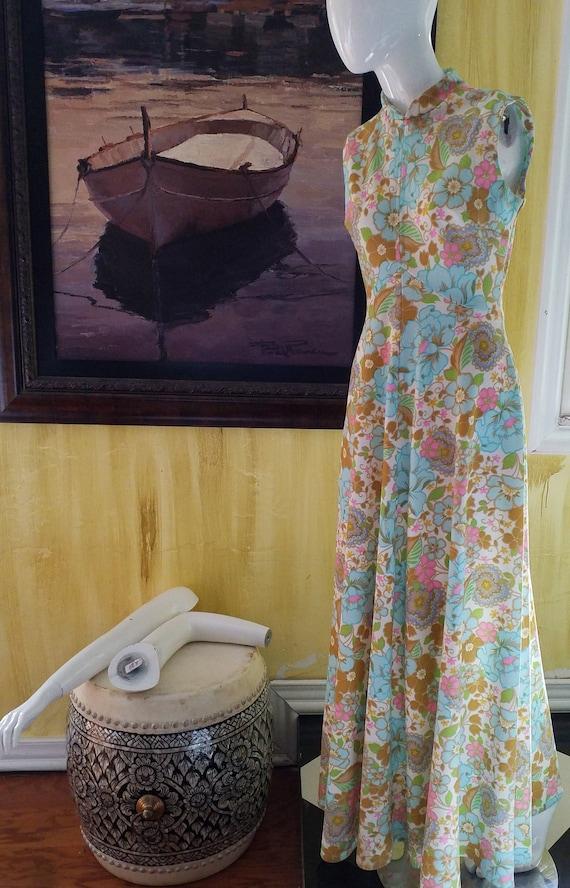 Vintage MOD Maxi Dress