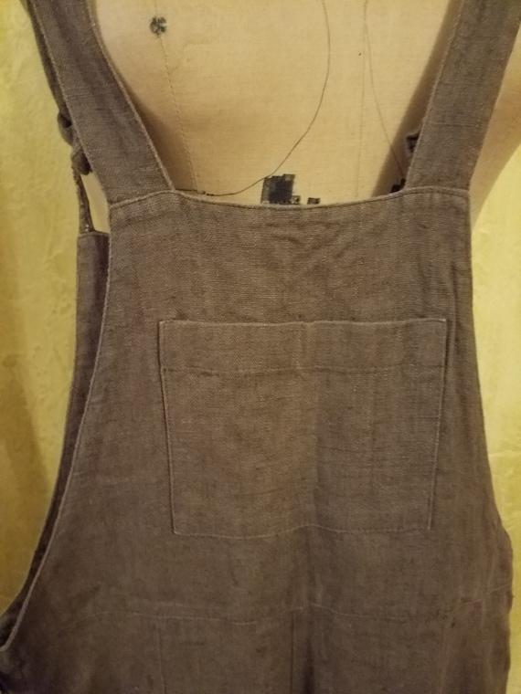 Vintage Linen Overalls