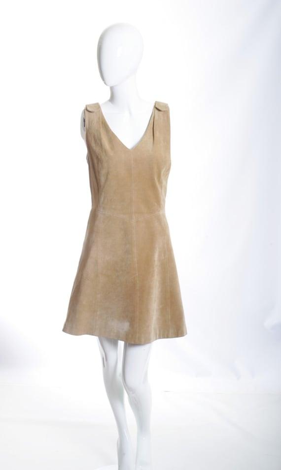 Ms. Boho Chic Suede Vintage Mini Dress