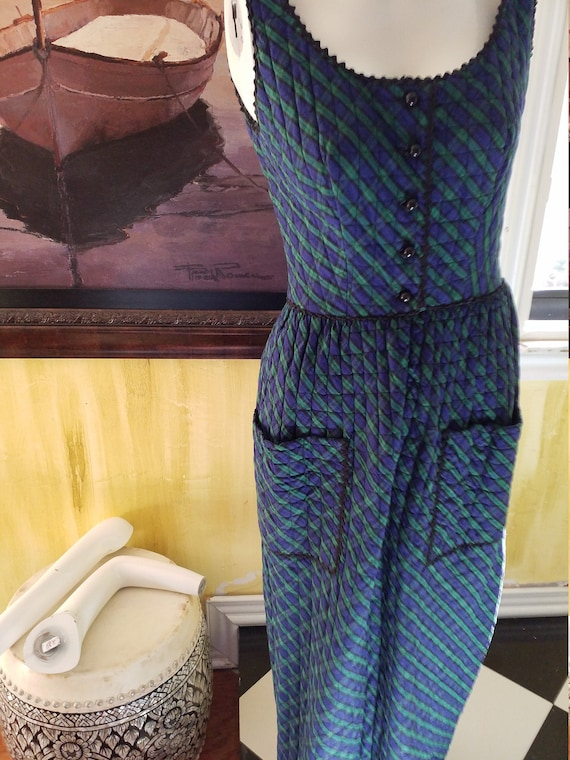 Vintage Cotton Quilted Maxi Dress