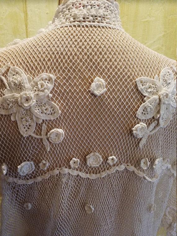 The Pretentious Snob white Crochet Blouse - image 6
