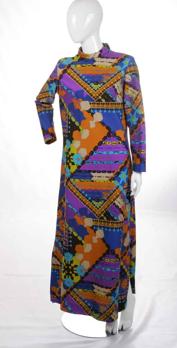 Psychedelic Pop Art Vintage Maxi Dress
