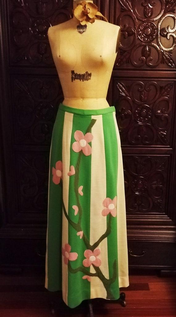 Vintage Wool Maxi Skirt - image 1