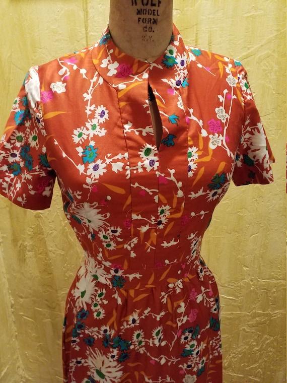 Vintage Cotton Floral MAXI Dress