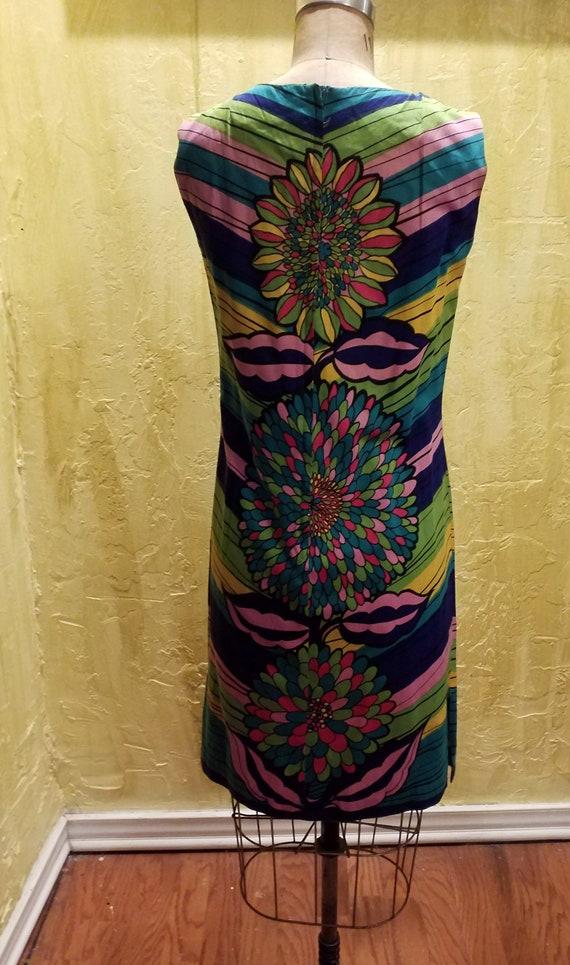 Vintage Floral Cotton Dress - image 4