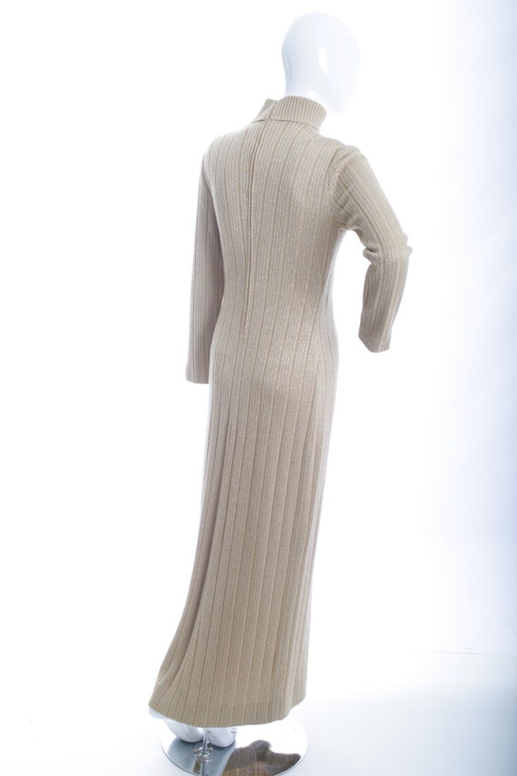 Clearance Sale Italian Vintage Knit Ribbed Maxi D… - image 2